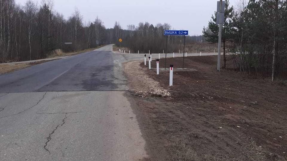 Дорогу к деревне Вышка сделали в Дальнеконстантиновском районе.