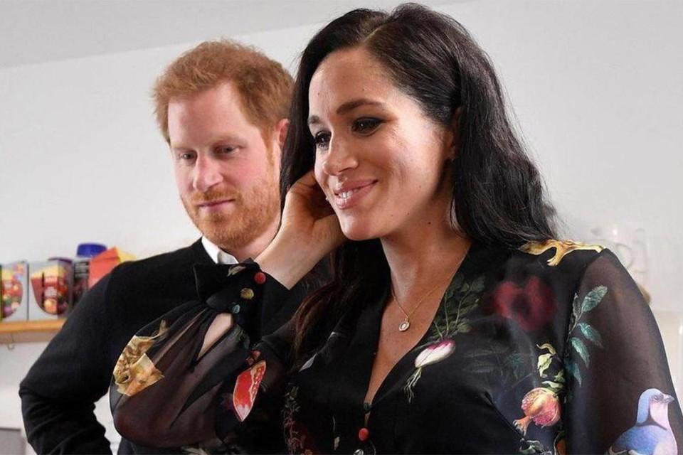 Принц Гарри и его супруга Меган Маркл.