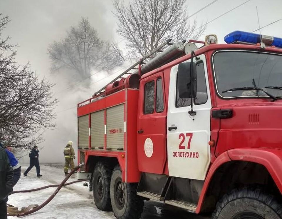 Пожар тушили 21 человек и семь единиц техники