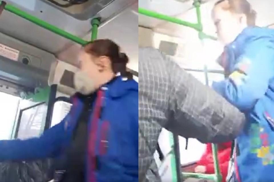 Взаимные оскорбления переросли в драку. Фото: стоп-кадр из видео.