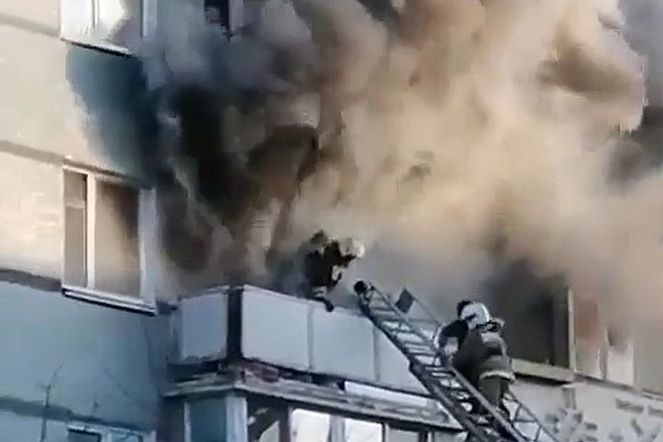 Дети попали в огненную ловушку