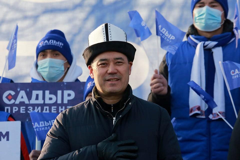 Садыр Жапаров избран президентом - за него проголосовали почти 80 процентов избирателей. Он также возглавит и правительство. Фото: EPA/ТАСС