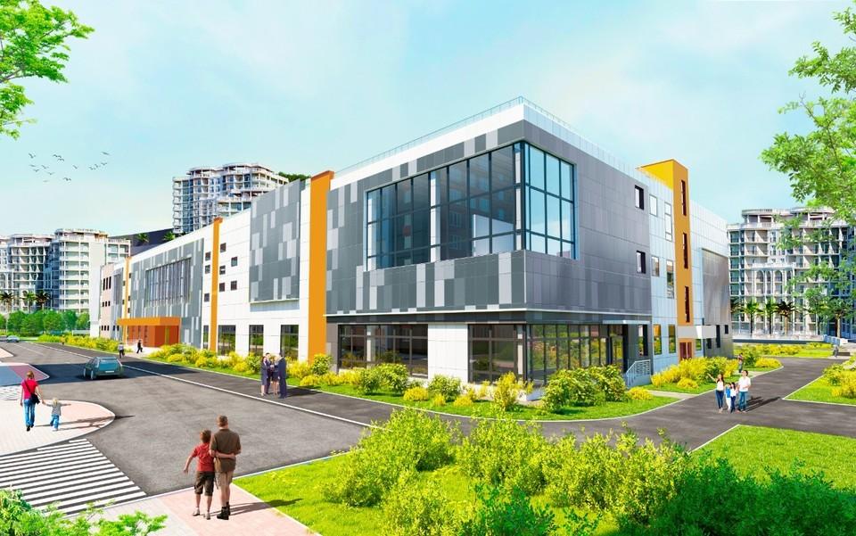 Так будет выглядеть новая школа. Фото: компания «Еврострой»