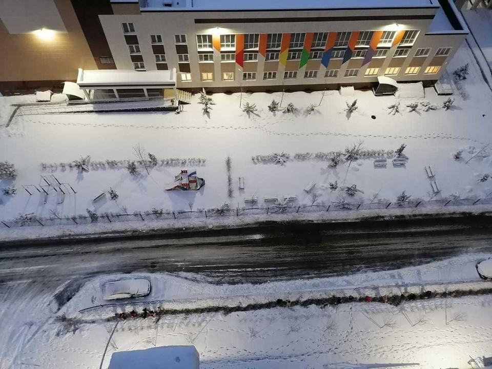 В Краснодаре снег ожидается в течение дня