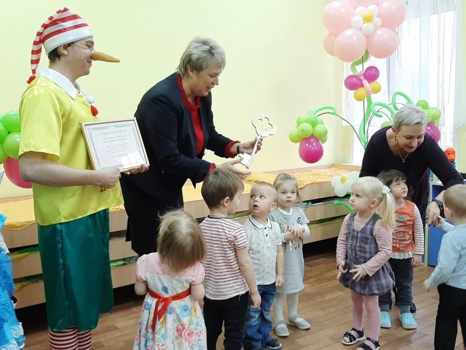 Елена Чернега на открытие нового корпуса детского сада в Самарском районе Самары