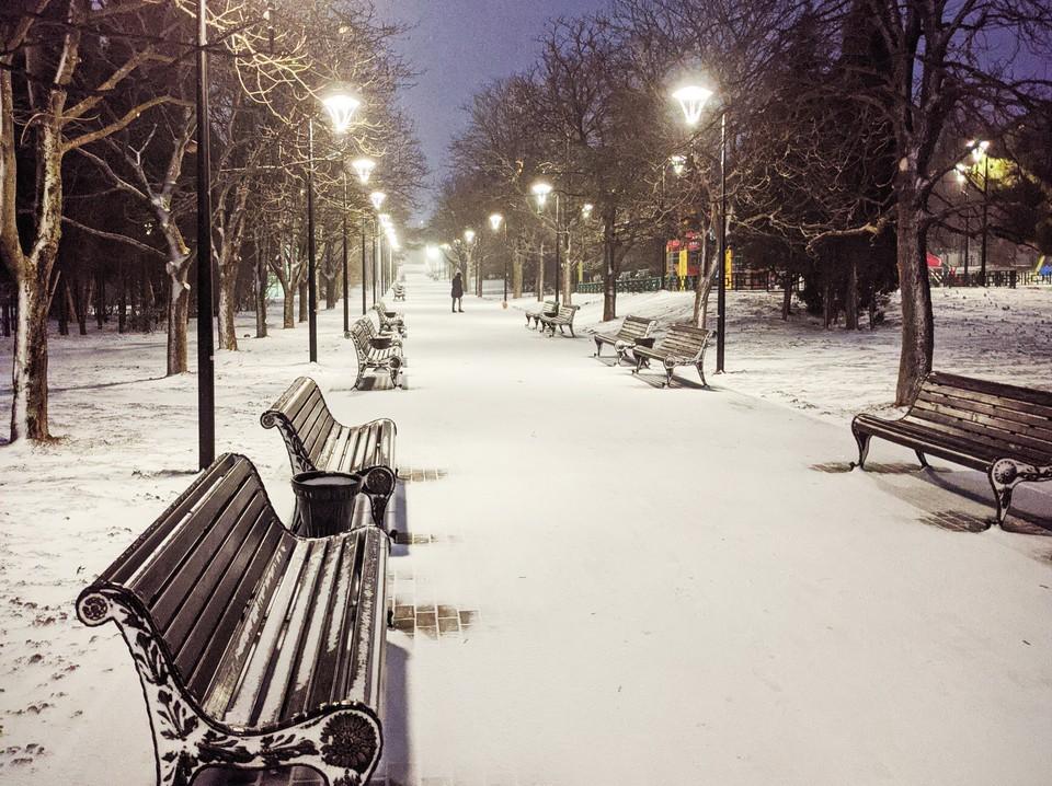 Севастополь после снегопада