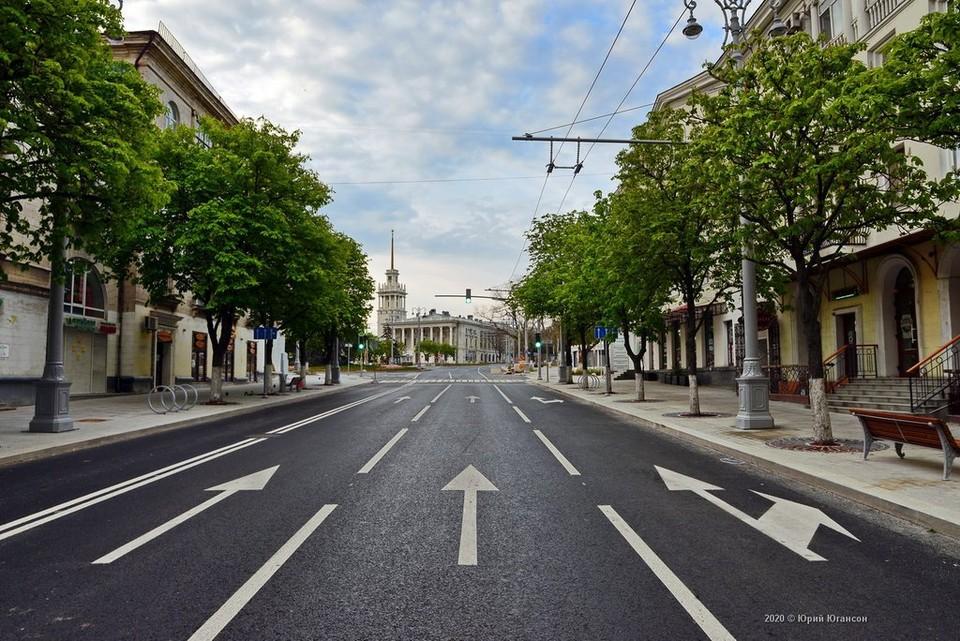 Обновленная улица Большая Морская задает тренд в ремонте дорог Севастополя