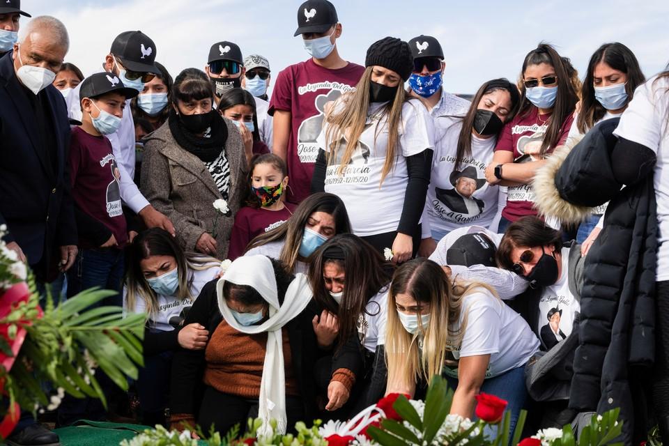 Похороны жертвы коронавируса в Мексике, 2020 г.