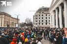 Водили хороводы  и кидались в полицейских снежками: как в Воронеже прошел несанкционированный митинг