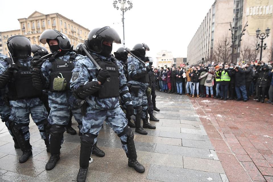 Отряды Навального и силовиков провели первую в 2021-м разведку боем друг-друга