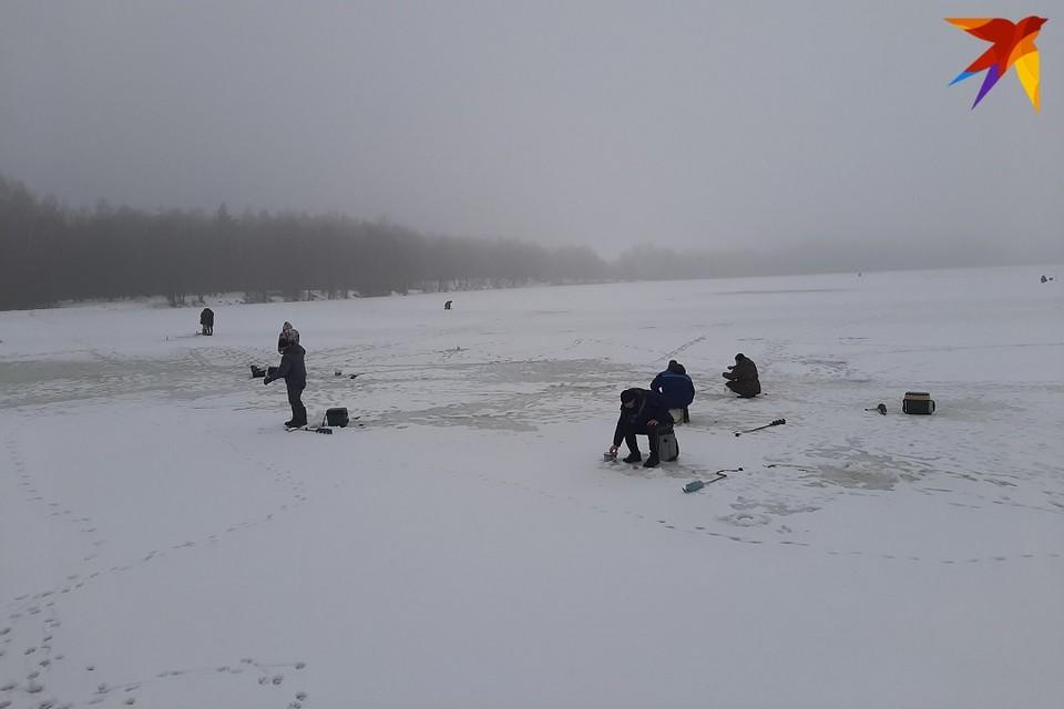 С потеплением рыбаков на льду будто бы прибавилось.