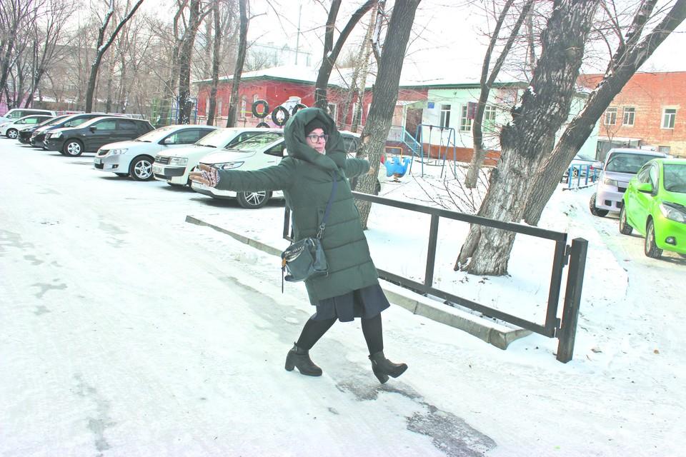Скользкие тротуары - одна из проблем Благовещенска