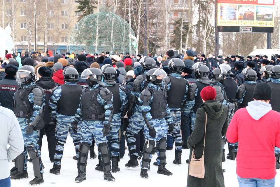 Акция прошла на Центральной площади