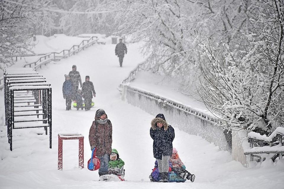 Москвичей предупредили о сильных снегопадах