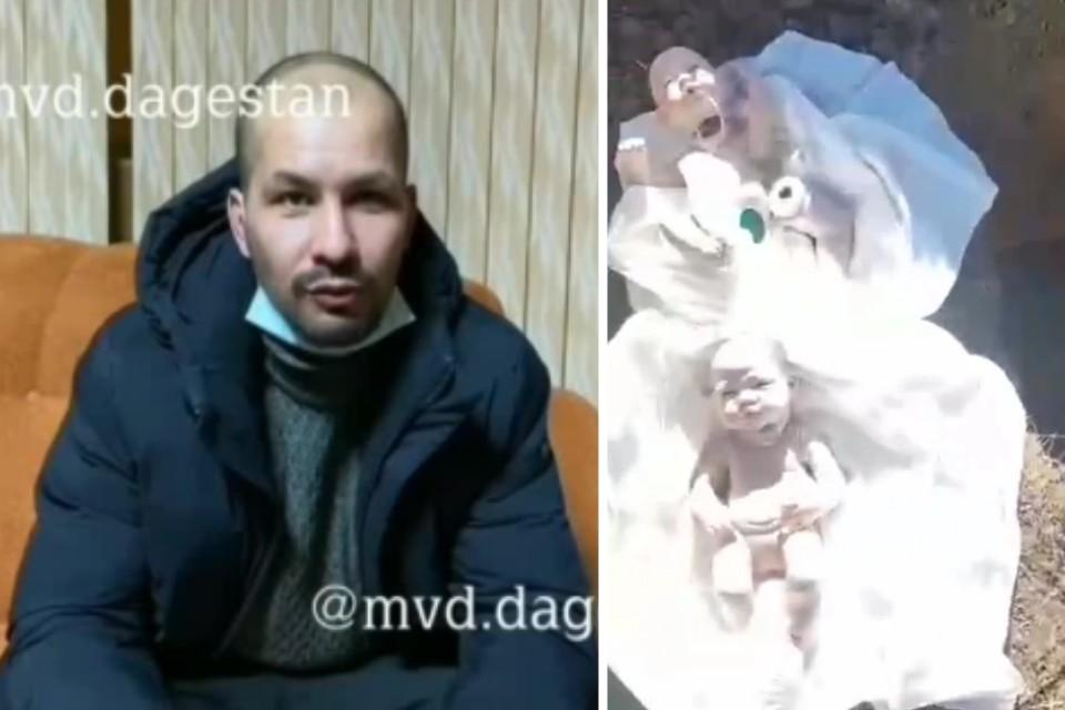 Проверка базы пациентов свидетельствует о том, что жена Дауда Даудова не рожала в краевых роддомах. Фото: МВД / кадр видео