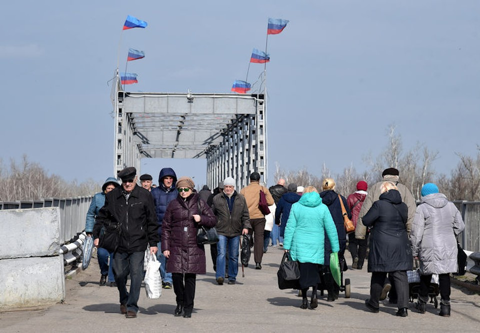 Станица Луганская - единственный пешеходный пункт пропуска на линии разграничения в ЛНР. Фото: ЛИЦ