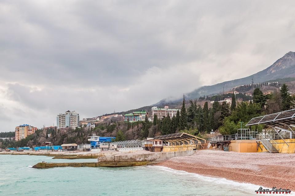Черное море стало свинцового цвета. Фото: Алекс Кедми/VK