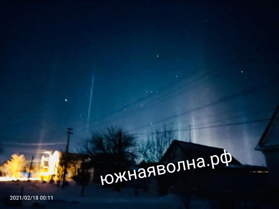 Необычное природное явление образовалось в ночь с 17 на 18 февраля