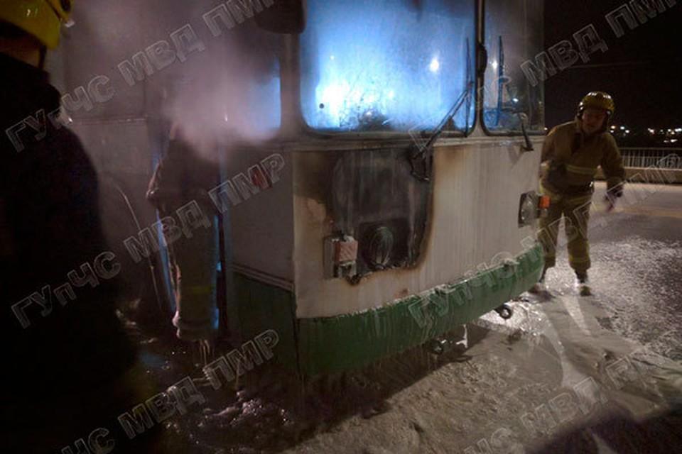 К счастью, никто из пассажиров не пострадал (Фото: МВД Приднестровья).