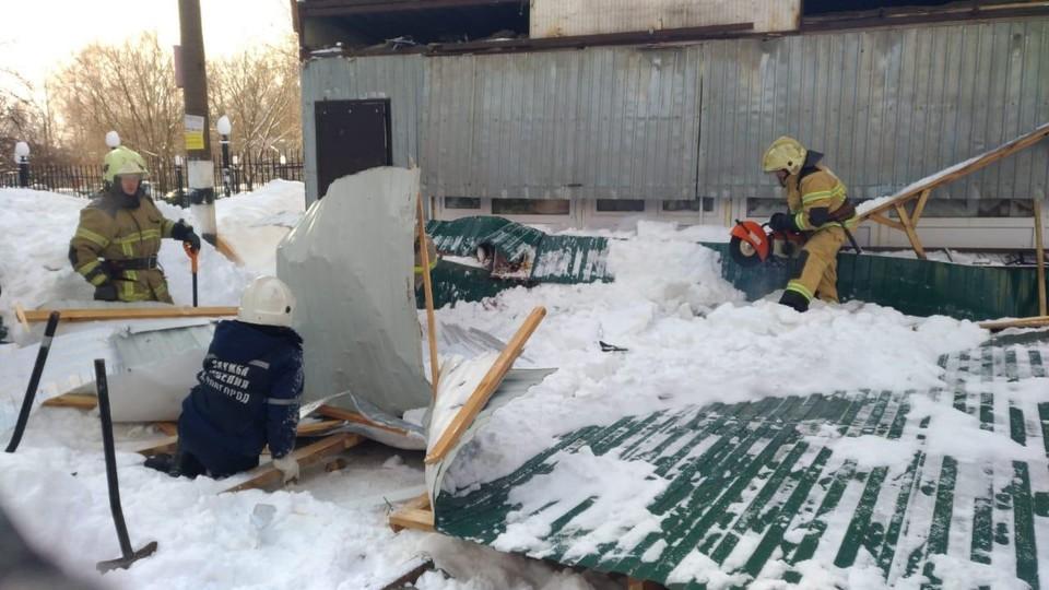 Палатка обрушилась днем 19 февраля.