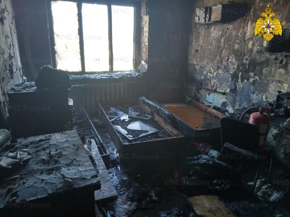 Соседние комнаты удалось спасти