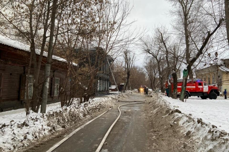 В пожаре на ул. Бабушкина в Иркутске погибла женщина.