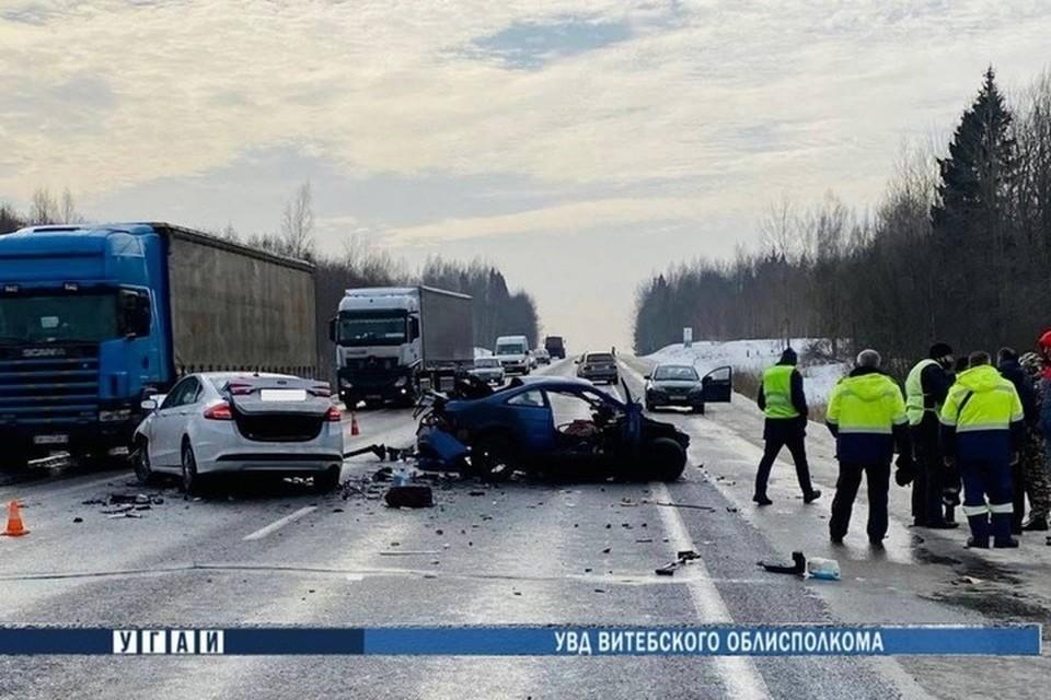 В Лиозненском районе произошла страшная авария. Фото: ГАИ Витебской области
