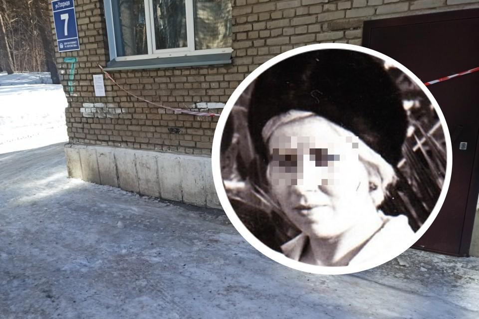 Пенсионерка возвращалась из магазина и вынуждена была пройти под балконом. Фото: Никита Манько // соцсети