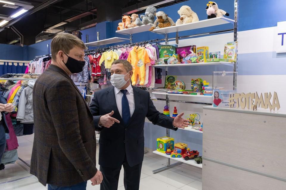 Глава Красноярска посетил благотворительный магазин «Тотемка»