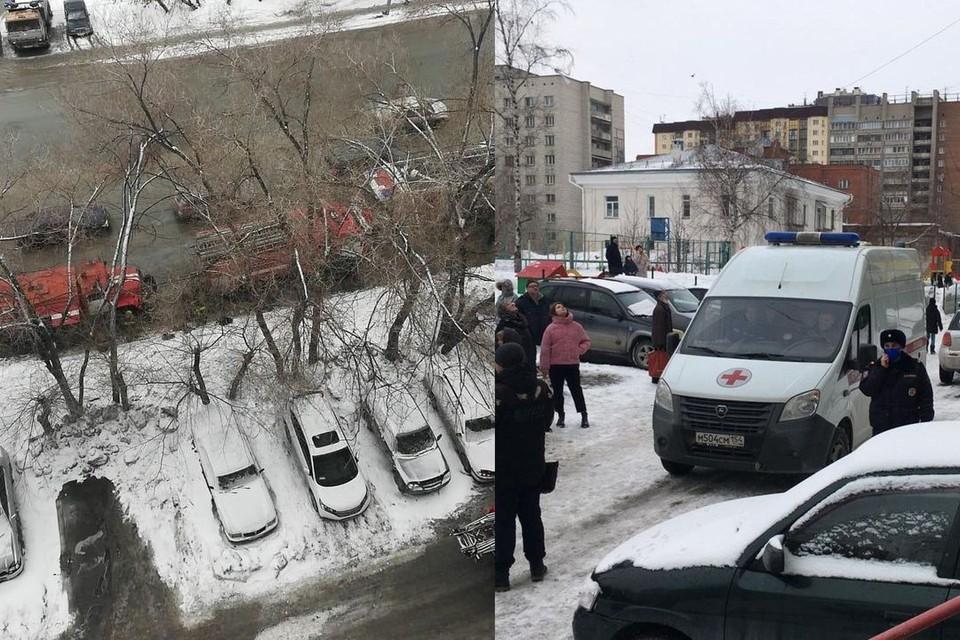 Пожар в девятиэтажном доме на улице Фрунзе удалось потушить. Фото: ГУ МЧС по НСО