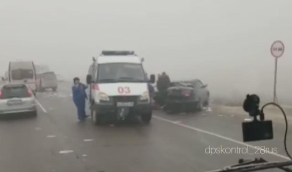 Туман и гололедица сделали опасным движение по амурским дорогам. Фото: instagram.com/dpskontrol_28rus/
