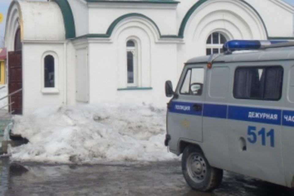 Мужчина с ножом напал на работницу часовни в Кузбассе. ФОТО: пресс-служба ГУ МВД России по Кемеровской области.