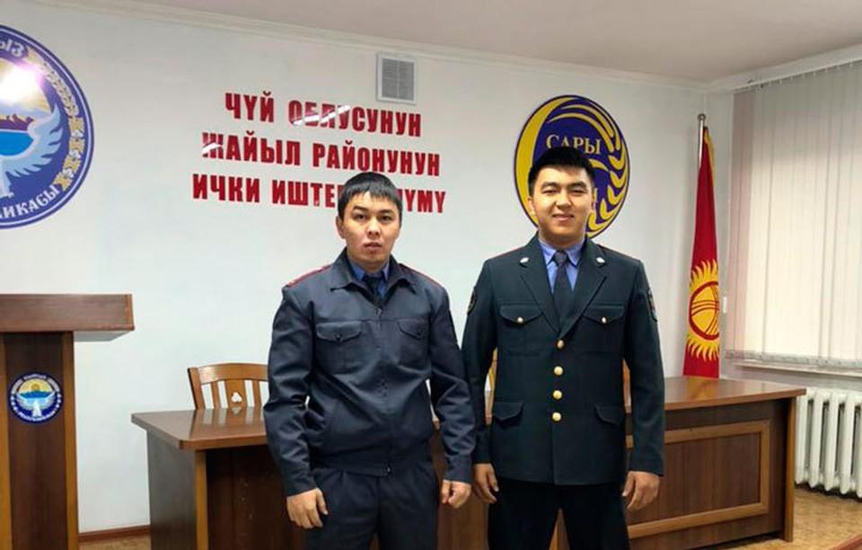 Следователь следственной службы и сотрудник службы криминальной милиции ОВД Жайылского района смогли предотвратить трагедию.