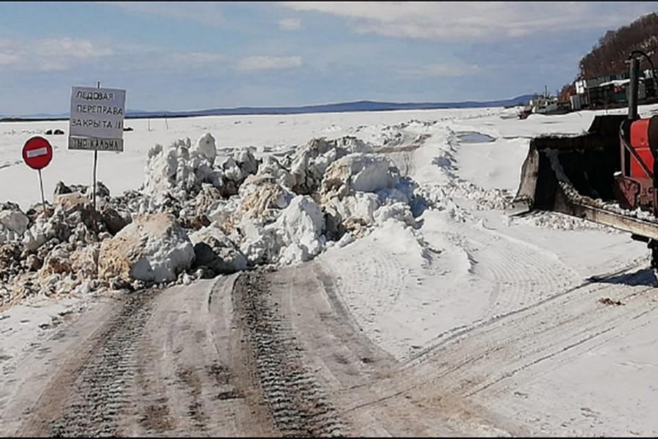 Ни одной ледовой переправы не осталось в Ульчском районе