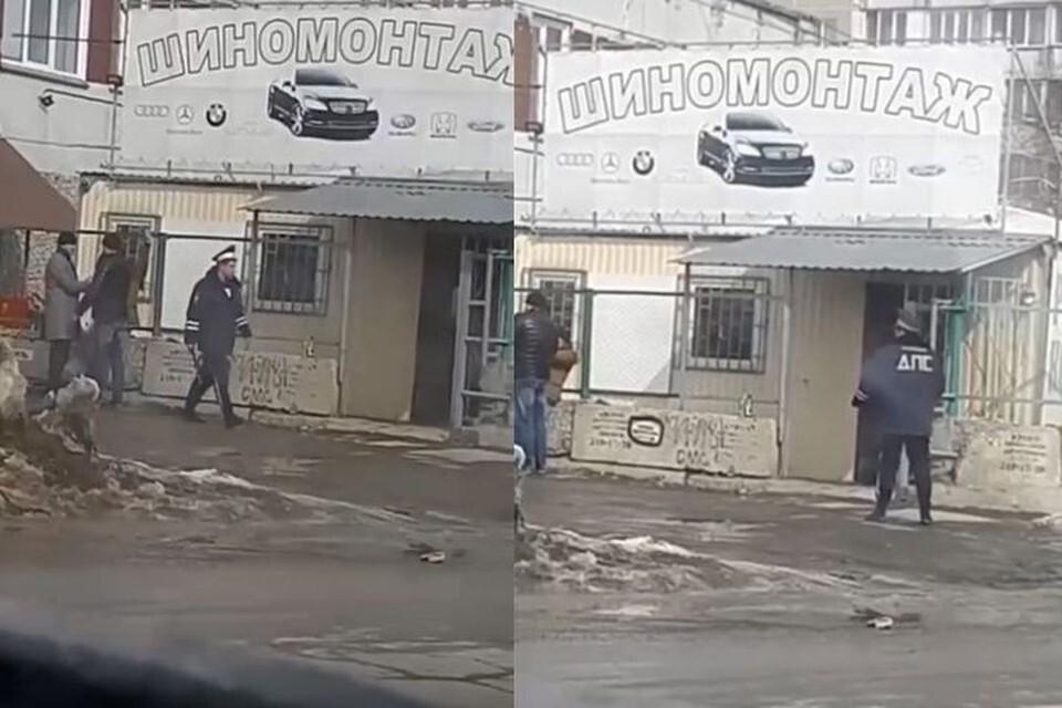 Полиция нашла мужчину, который засветился в соцсетях пьяным и в форме гаишника. Фото: Кадр из видео