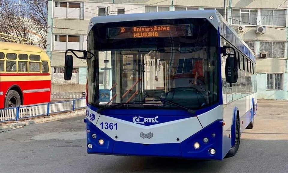 С сегодняшнего дня по дополнительному троллейбусному маршруту D «Балканское шоссе - Медицинский университет» будут ходить еще 4 единицы техники. Фото: facebook.com/Ion.Ceban