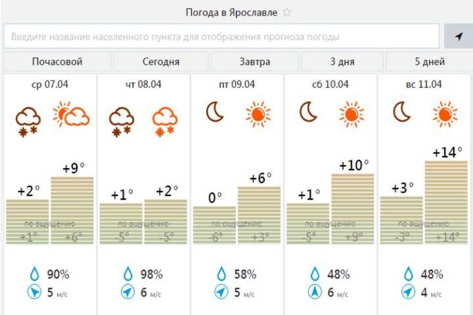 """В Ярославской области ожидается непогода. Скриншот с сайта Центра """"Фобос"""""""
