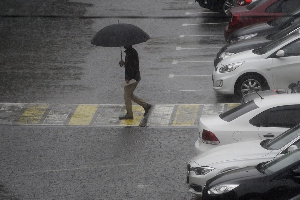 Сегодня без зонтика из дома лучше не выходить