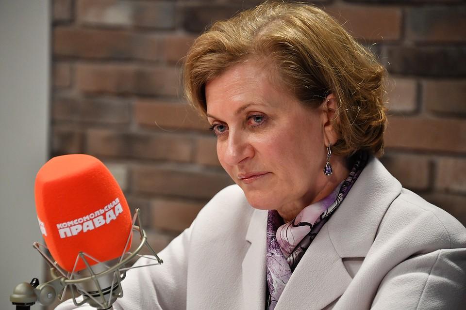 Руководитель Роспотребнадзора, главный государственный санитарный врач РФ Анна Попова