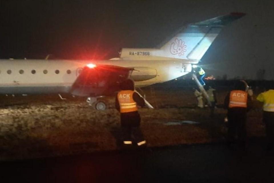 В Пулково самолет выкатился за пределы взлетно-посадочной полосы. Фото: СЗТП
