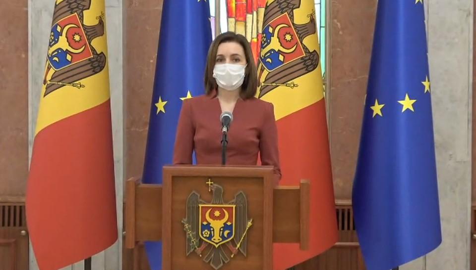 После заседания Совета безопасности Майя Санду выступила с заявлением для прессы.