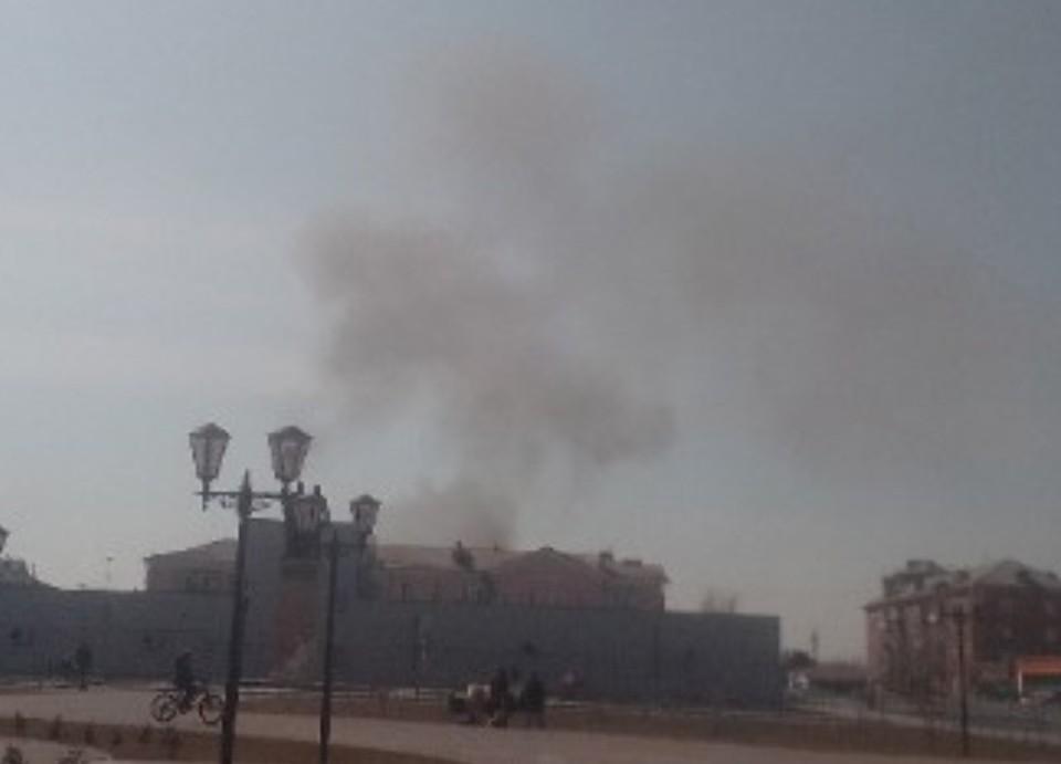 Пал травы и пожар на свалке привели к жалобам на экологию. Фото: сообщество «Татарск Online» «ВКонтакте»