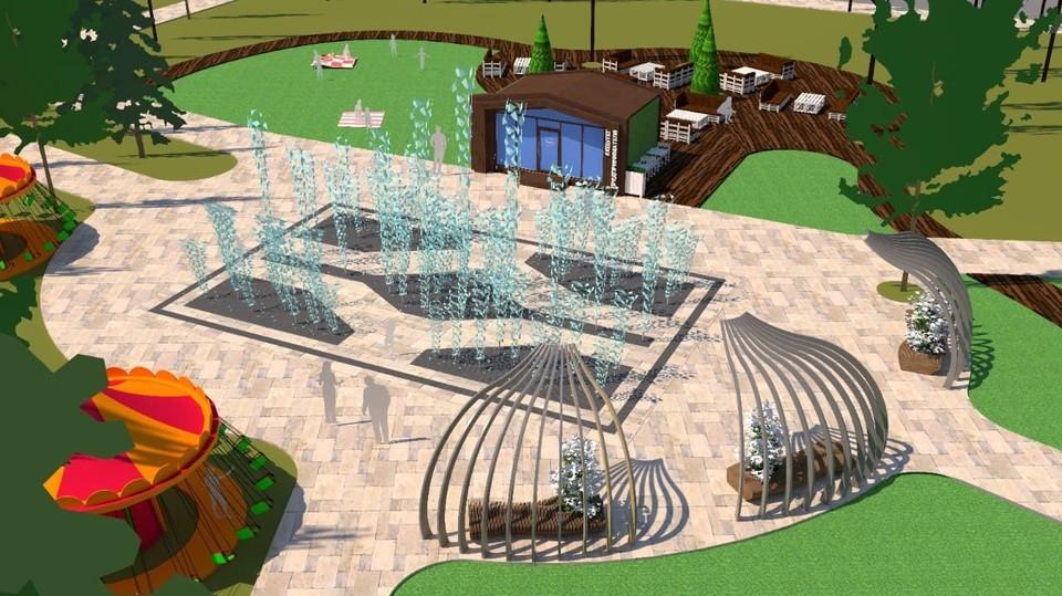 Новый фонтан появится в парке им. 30-летия ВЛКСМ. Фото: пресс-служба администрации Омска