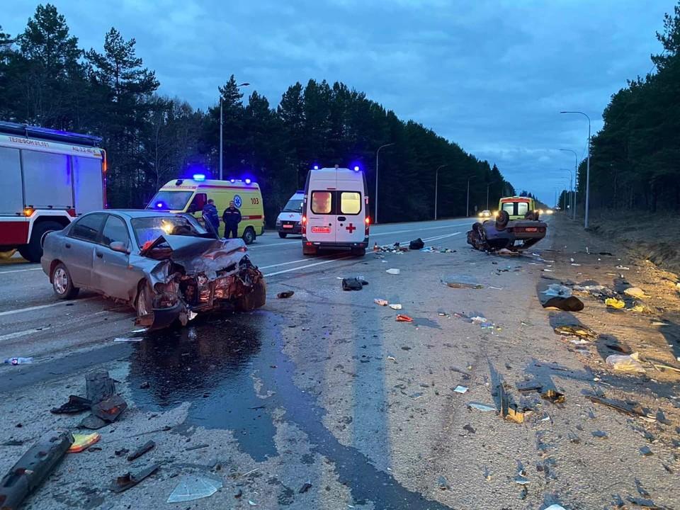 Иномарка и ВАЗ столкнулись на трассе «Ижевск-Сарапул»