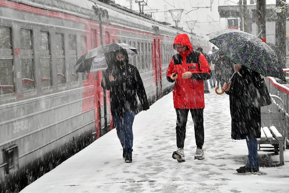 В Москве и Московской области начался снегопад