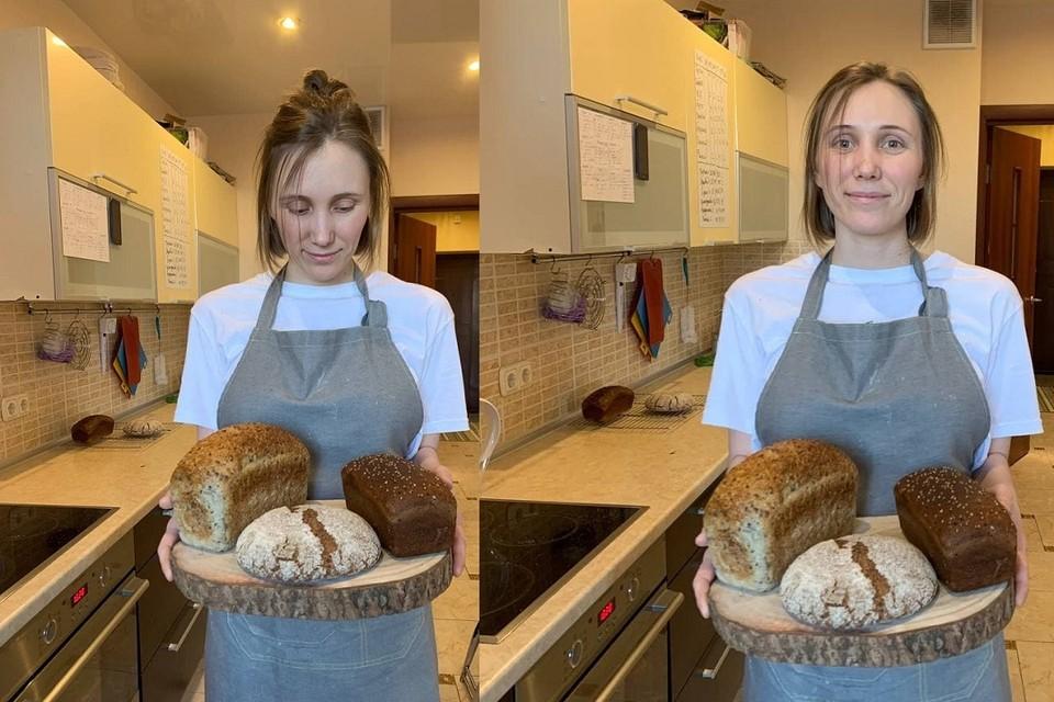 Раздавая хлеб бесплатно нуждающимся Любовь Любчук чувствует больше, чем просто удовлетворение от выпечки. Фото: из архива героя.