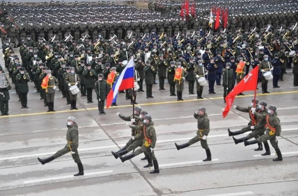 В Краснодаре состоялась первая репетиция Парада Победы на 9 мая