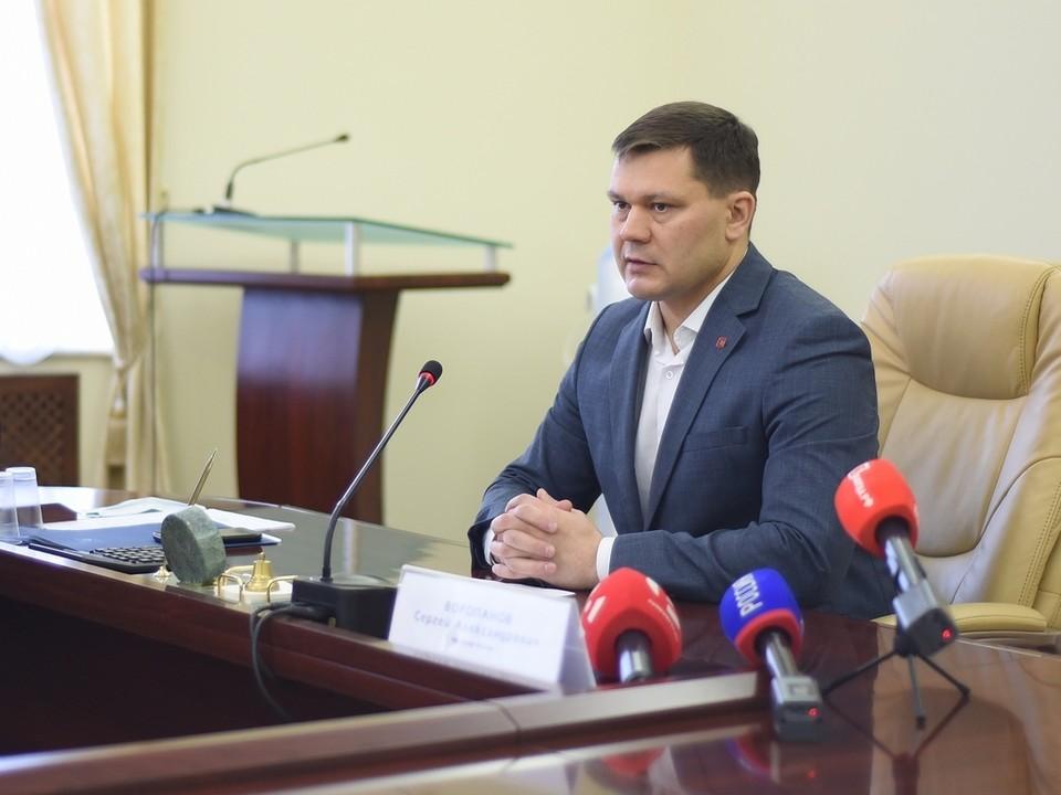 Мэр Вологды Сергей Воропанов провел пресс-конференцию