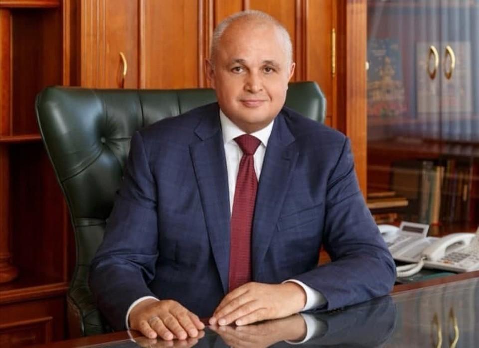 В День весны и труда губернатор пожелал всем кузбассовцам здоровья и счастья. Фото: пресс-служба АПК.