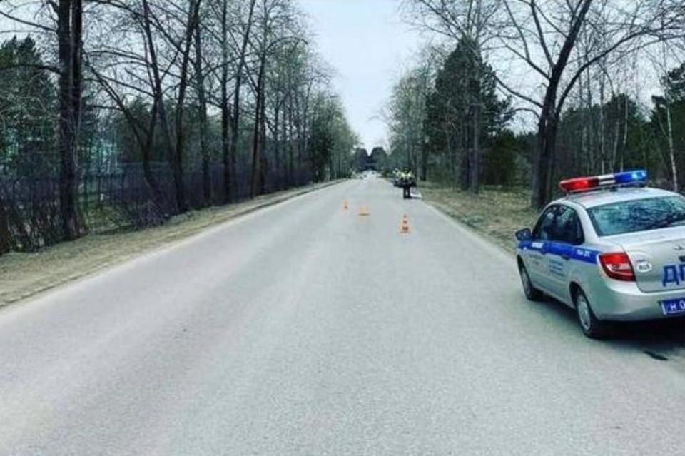 Место смертельной аварии. Фото: страница ГБДД г.Перми в Инстаграм.